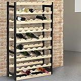 IDMarket - Etagère à vin 54 bouteilles bois