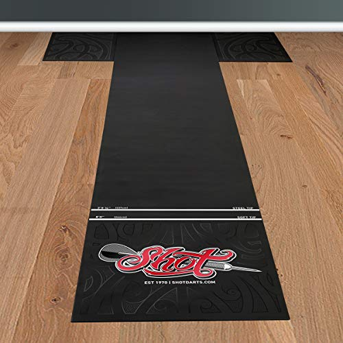 Shot! Darts Professional T Dart Mat-Dart Points and Flooring Protector-Heavy Duty Pro...
