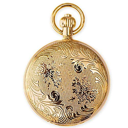 Uhren Kupfer Metall geheimen Garten alte Shanghai Männer mechanische Taschenuhr und Frauen Retro-Muschel (Gold) ZJ