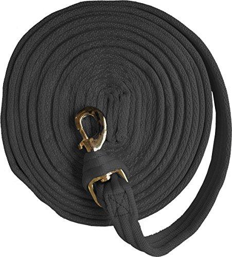 JUMPTEC Longierleine, weich gepolstert, schwarz, Länge ca. 8 m