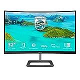 Philips 322E1C Gaming Monitor Curvo da 32', FHD LED VA Adaptive Sync 75 Hz, HDMI, Display Port, VGA, Flicker Free, Low Blue, Nero