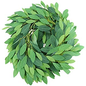 PRETYZOOM Artificial Plant Vines Fake Hanging Rhododendron Garland Leaf Foliage Flowers Rattan Greenery Decor for Forest Party Wedding Wall (Colorful)