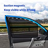 aokway Car Sun Shade, Car Side Window Shade Mesh Magnetic Universal Fit for rv Truck UV Protection 2 PCS(Front)