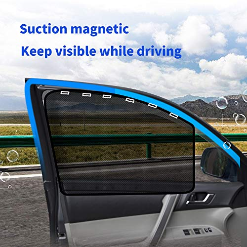 aokway Car Sun Shade, Car Side Window Shade Mesh Magnetic Universal Fit for...