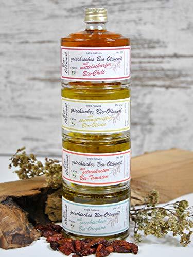 direct&friendly Geschenkset Bio Olivenöle mit Chili, Tomate, Oregano - 2