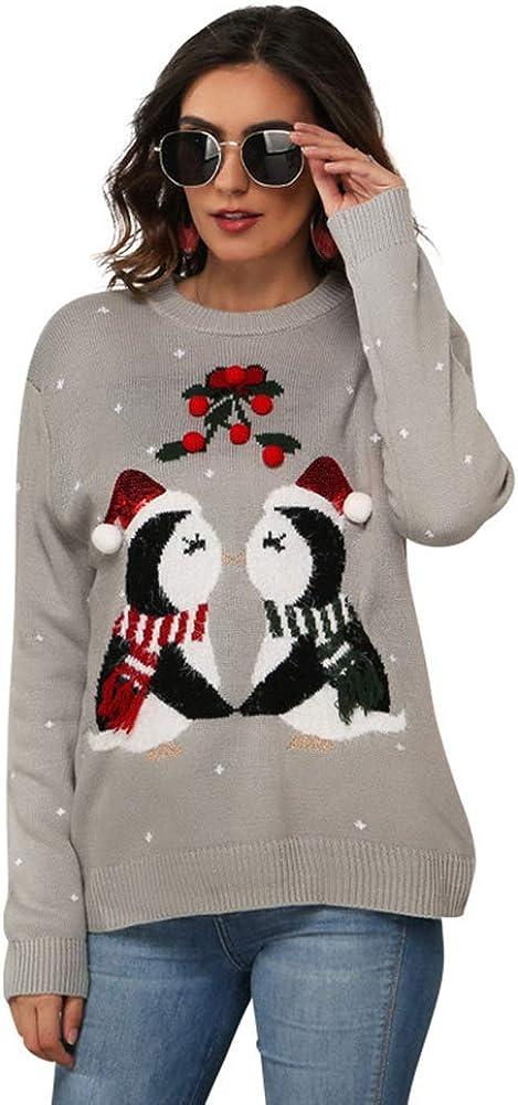 YOJOLO Women's Crewneck Sweater Pullover Cute Max 63% OFF Fort Worth Mall Casual Penguin Pri