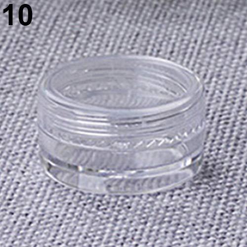 Hearsbeauty Mini-Fläschchen aus Kunststoff, rund, leer, 5 g, plastik, Clear