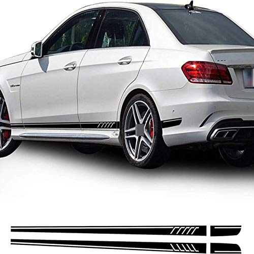 Kongzt For Mercedes Benz E Class, W212, E63, e250, e200, e300, e350, e320, AMG,Racing Door Side Skirt Garland Stripe Decal
