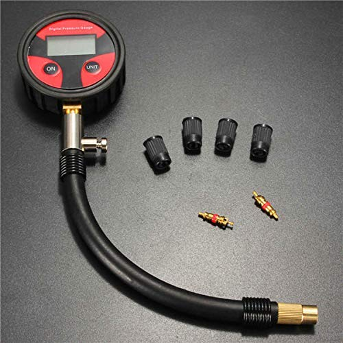 0-200PSI Neumático Neumático Medidor de presión de aire Medidor de probador Manómetro Coche Camión Motor Bicicleta
