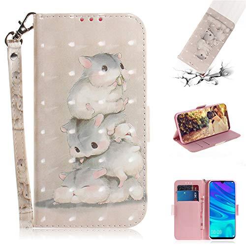 Capa tipo carteira XYX para iPhone 11 Pro, [Al?a de pulso] Capa protetora tipo carteira de couro PU colorida para iPhone 11 Pro 5,8 polegadas (esquilo)