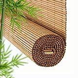 Tenda a Rullo Bamboo Blinds Brown Blinds Privacy Schermi di Privacy Blinds in Legno Blinds a rulli di bambù (Colore : Brown, Taglia : 80 * 220cm)