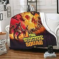 映画 スーサイドスクワッド The Suicide Squad 大サイズ、改良された防寒性、保温性、ファッション性、吸湿性、保温性、抗菌性、帯電防止性、洗濯可能 手触り、家庭、オフィス、アウトドア、車、出張などに適しており、1年中使用可能