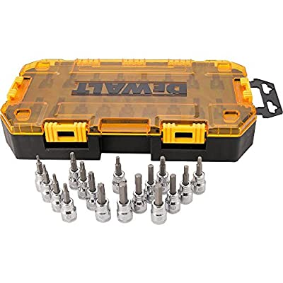 DEWALT DWMT73806 Tough Box Tool Kit 3/8'' Drive Socket Set, 17 Piece