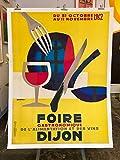 Dijon Poster Gastronomie 1962 Reproduktion, Format 50 x 70