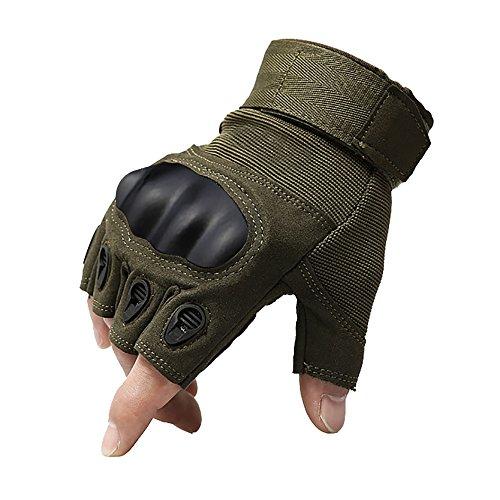 1 par Special Ops Half Finger Guantes Shooting Paintball CS Juego, airsoft Combat – Guantes Sin dedos para la caza Jinete Escalada Camping Guantes Assault Guantes, hombre, color Armeegrün, tamaño extra-large