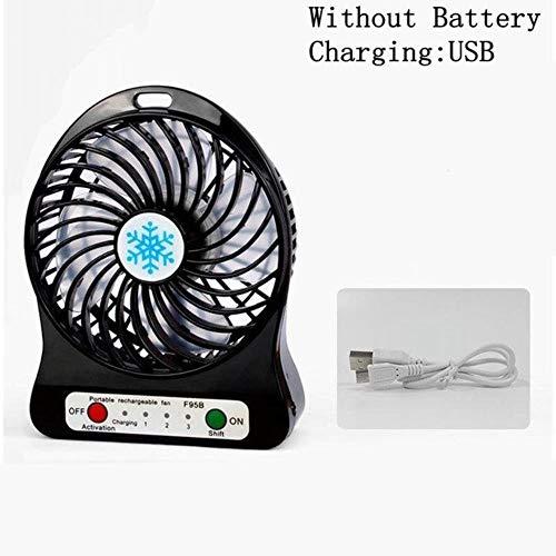 Bhu Mini ventilatore portatile da scrivania da 10,2 cm, 4 pale, ventola di raffreddamento a 360 gradi su e giù per casa, ufficio, scuola Nero 15 x 11,5 x 5 cm.