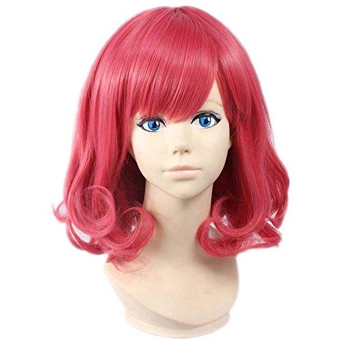 etruke court Anime Rose Noragami Kofuku Wave Cosplay Perruques