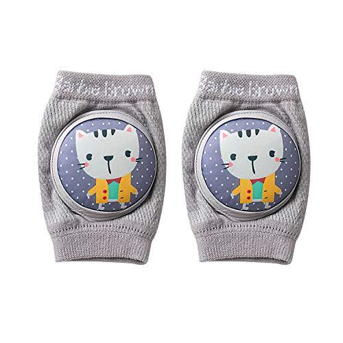 BED COTTON Knieschoner Baby Krabbeln – Anti Rutsch Krabbelhilfe Mädchen Junge Krabbelschoner Stulpen – Knieschützer Gummipunkte, 0-24 Monate Kleinkinder