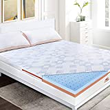 Maxzzz Memory Foam Mattress Topper 160x200 Gel Infused, Highly Breathable, Ergonomic Design, Antiacarid, Removable and Machine Washable-7.5cm
