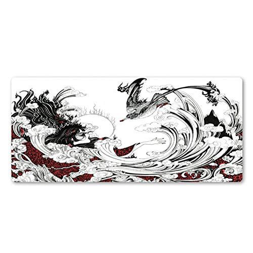 NASHUBIA nieuwe Chinese stijl achterkant en witte inkt, kunst-muismat van hoogwaardig rubber, accessoires voor computer, toetsenbord en muis, populaire muismat