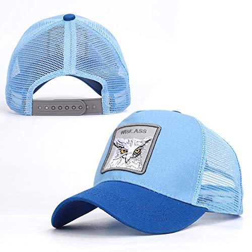 SHASO Baseballmütze Trucker Unisex Animal Mesh Trucker-Mütze Back Square Patch Baseball Caps Owl