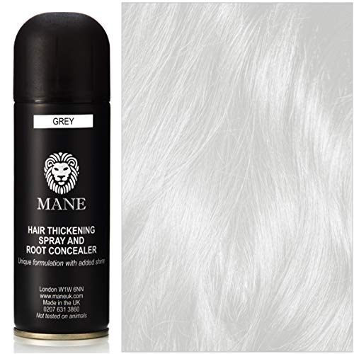 Mane Hair Thickening Spray - for Hair Loss and Thinning Hair and to cover grey roots-Grey 200 ml