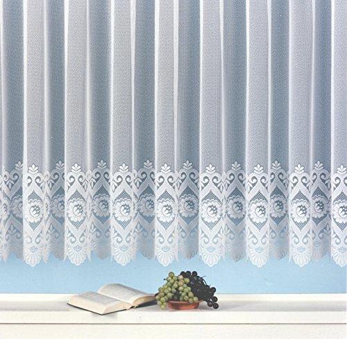 Weckbrodt Fertig-Store Jacquard mit Kräuselband, halbtransparent, Farbe weiß Größe HxB 90x300 cm