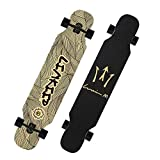 TYXTYX Longboards Surf Skate Longboard Skateboard Unisex Adulto,Ideal para Principiantes y Profesionales,Street Surfing(42', Madera de Arce de 8 Capas, Antideslizante, Grado de dureza 95A)