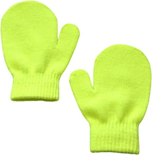 BIUXIAOBAI Baby Boys and Girls Solid Warm Knitted Mittens No Scratch Gloves
