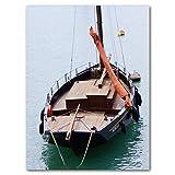 Buff ahoi! 11 - Cuadro XXL (60 x 80 cm, impresión sobre lienzo de 2 cm), diseño de barco marinero