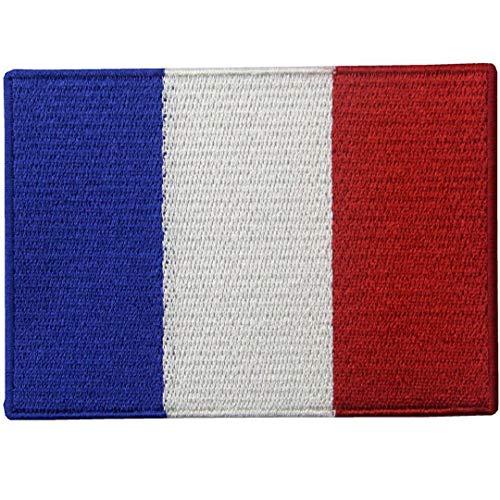 Frankreich Flagge Bestickt Applique Eisen Zu Nähen Am Pflaster Marke
