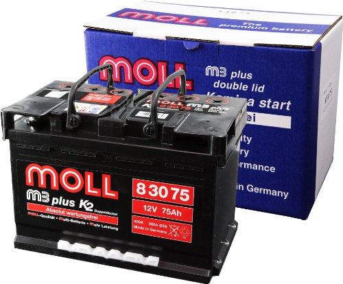 Moll M3 Plus K2 Doppeldeckel 83075 75Ah (660A Kälteprüfstrom)