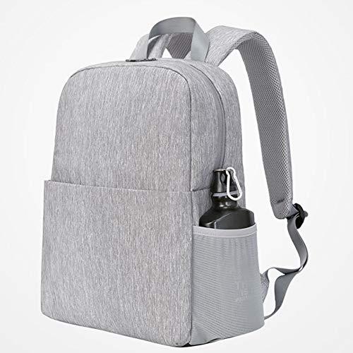MX DSLR Camera Backpack Multifunction Security Camera Bag Waterproof Rucksack With Tripod Holder Rain Cover For Men/Women Black Gray (Color : Gray)