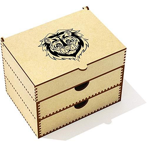 Azeeda 'Tête de Lion Tribale' Boîte de Maquillage (VC00012758)