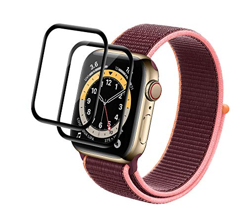 PaceBid 2 Pack Pellicola Protettiva Compatibile con Apple Watch Series 6/SE 44mm, Completamente Protettivo Ultra Sottile HD Trasparente Film Morbido per Apple Watch Series 6/SE 44mm