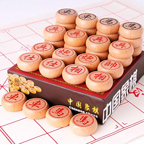 GoodPlay Beechwood Chinese Chess Set Xiangqi Travel Games Sets with Leather...