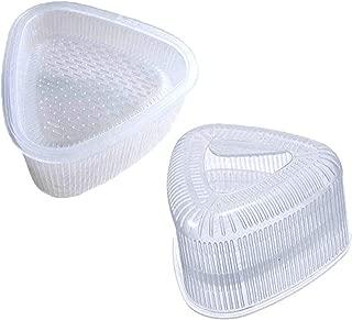 LW 2 pcs Triangle Sushi Mold Form Sushi Mold Onigiri Rice Mold DIY Tool, White
