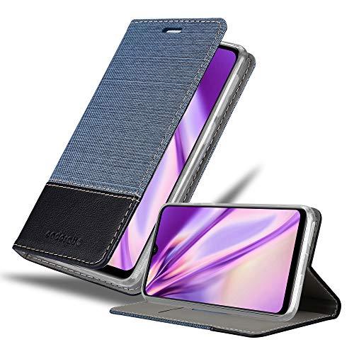 Cadorabo Hülle für Xiaomi Mi A3 in DUNKEL BLAU SCHWARZ - Handyhülle mit Magnetverschluss, Standfunktion & Kartenfach - Hülle Cover Schutzhülle Etui Tasche Book Klapp Style