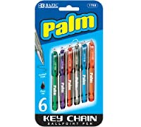 BAZIC Palm MiniボールペンペンW /キーリング( 6/パック) (ケースof 24)