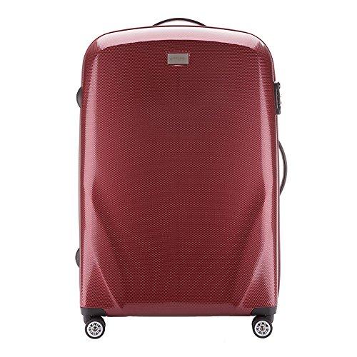 WITTCHEN Koffer – Großer | hartschalen, Material: polycarbonat | hochwertiger und Stabiler | Burgund | 85 L | 79x53x27 cm