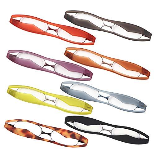 新型 POD READER SMART 老眼鏡 携帯用 見やすく楽に掛けられる 超軽量・薄型タイプ ケース付で傷付も安心[PrePiar](グレー +1.5)