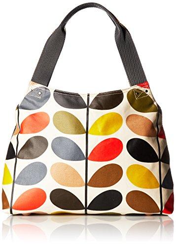 Orla Kiely Damen Etc Stem Classic Shoulder Bag Stofftasche, Mehrfarbig (Multi), 39x26x10 Centimeters