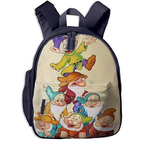 SFGHM Zaini scuola sette nani per ragazze Ragazzi Bambini Borse scuola elementare Bookbag Outdoor Travel Daypack