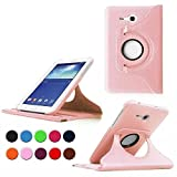 Coque Compatible avec Samsung Galaxy Tab 3 Lite 7.0 - 360°Rotation Housse cuir pour Samsung Galaxy Tab 3 Lite 7.0 SM-T110 (7 Pouces) Coque Housse de Protection Etui Smart Cover Case avec rabat/stand