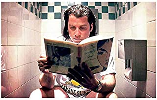 MugKD LLC Pulp Fiction Movie Poster - Vincent Vega Print - Funny Bathroom, Classic, Digital Oil Painting, Home, Art [No Framed] Poster Home Art Wall Posters (16x24)