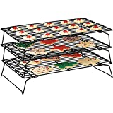 Top Home Solutions 3 Tier Stackable Cooling Baking Cake Biscuit Tray Rack Space Saving Cake Stand