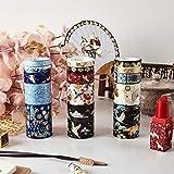 BLOUR 5 Piezas INS diseño de Papel Washi Tape Set Lujo Oro grúa Vintage jardín Flor Adhesiva Cintas de enmascarar lápiz Labial DIY Pegatina A6313