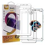 Guran [3 Paquete Protector de Pantalla para Xiaomi Redmi Note 5 Pro / Note5 Smartphone Cobertura Completa Protección 9H Dureza Alta Definicion Vidrio Templado Película - Blanco