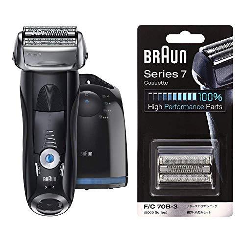 【セット販売】【Amazon.co.jp限定】ブラウン メンズ電気シェーバー シリーズ7 7760cc 4カットシステム 洗浄機付 水洗い可 替え刃一個付き