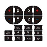 AC Dash Button Sticker Repair Kit for GM Vehicles, AC Panel Decals & Radio Button Repair Decal Set, Fix Ruined Faded AC Controls for Suburban, Chevy Tahoe - Year Models 2007-2015